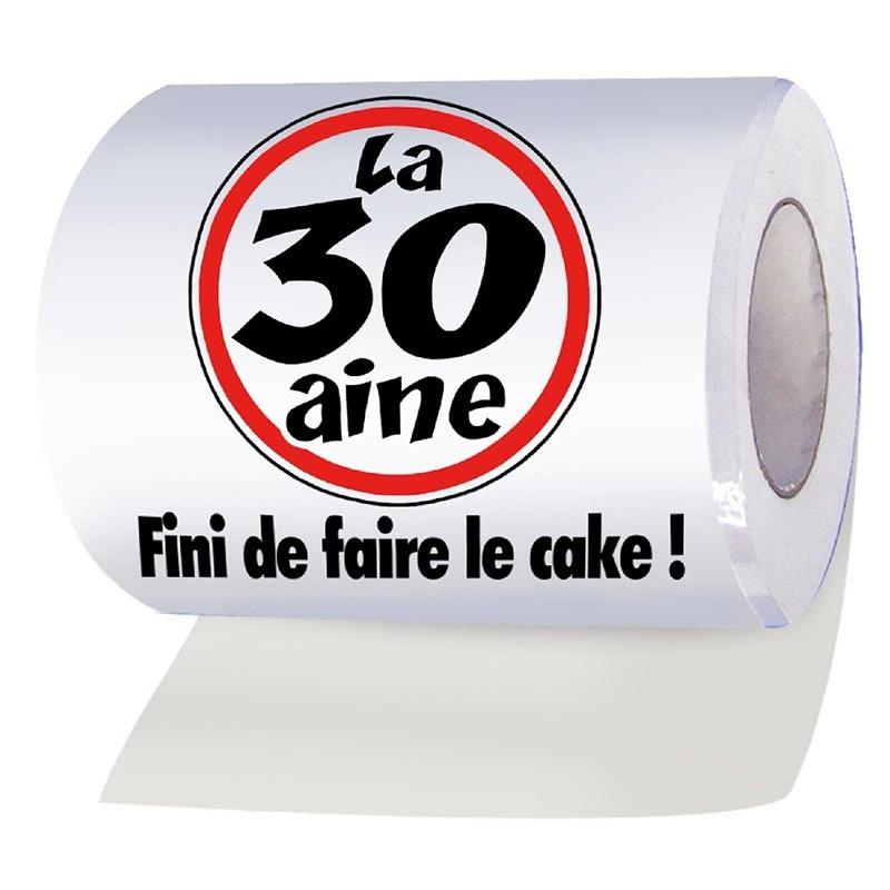 Rouleau de papier WC marrant pour anniversaire 30 ans