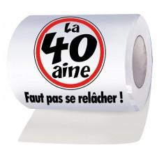 Papier wc en rouleau pour anniversaire 40 ans humoristique