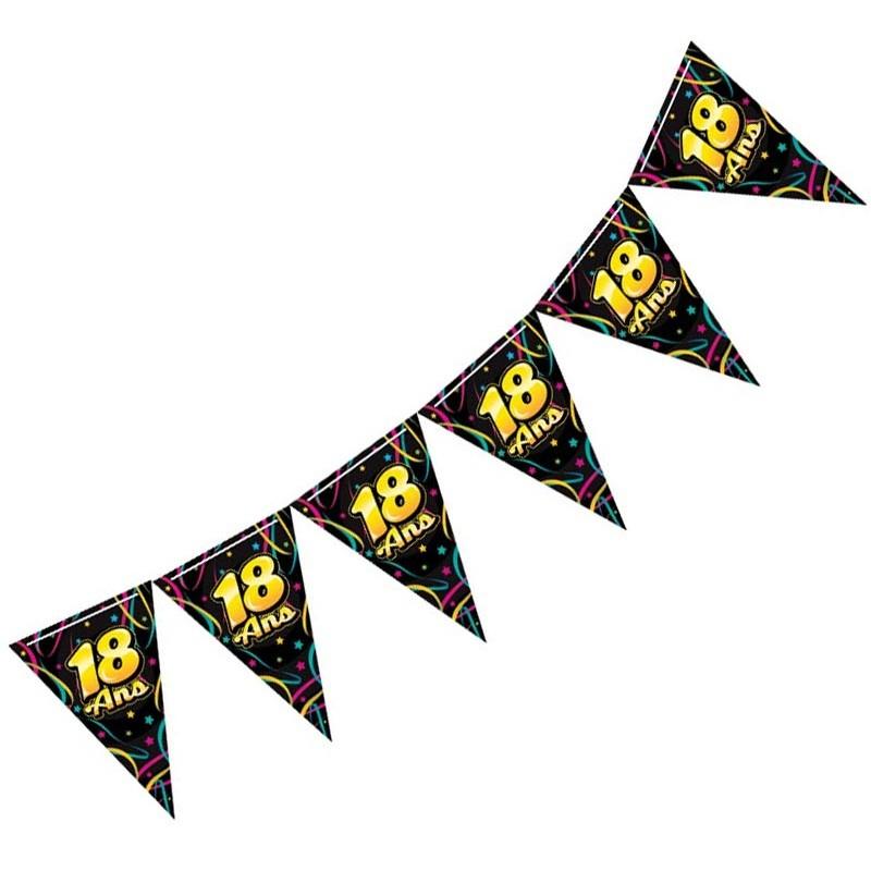 Banderole pour fête d'anniversaire 18 ans
