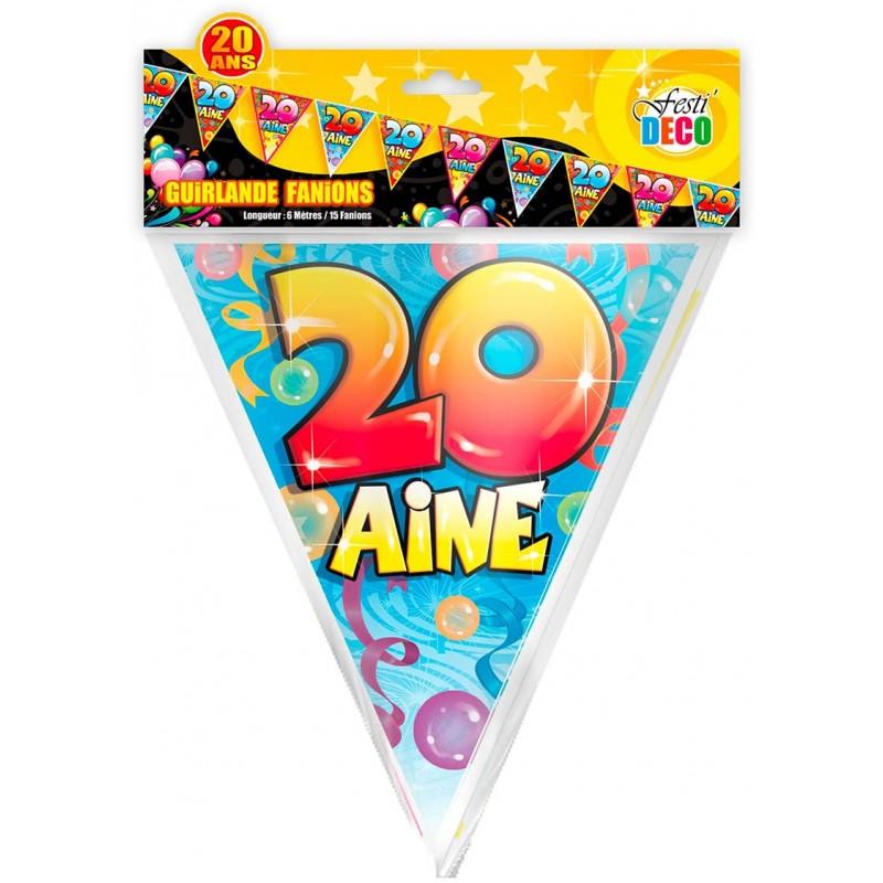 Banderole décorative pour anniversaire 20 ans