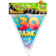 Guirlande fanion pour anniversaire 30 ans