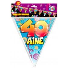 Banderole de 6 mètres pour anniversaire 40 ans