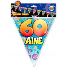 Guirlande fanion pour anniversaire 60 ans
