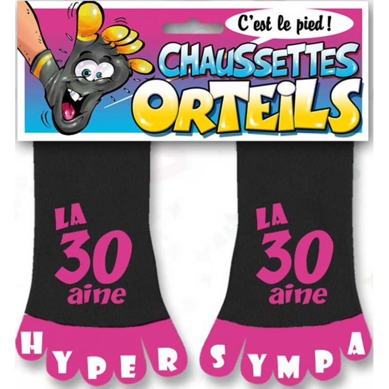 Chaussettes pour anniversaire 30 ans rose humoristiques