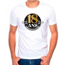 Tee-shirt dédicace pour anniversaire 18 ans