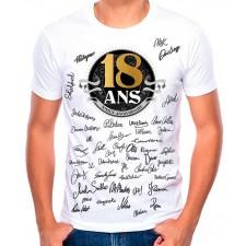 Tee-shirt à signer pour cadeau d'anniversaire 18 ans