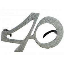 Lunettes 40 ans argent