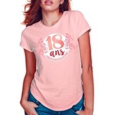 Tee-shirt 18 ans anniversaire pour femme rose gold de taille unique